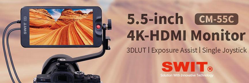 Накамерный монитор SWIT CM-55C для DSLR камер